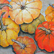 Little Pumpkins Poster by Hilda Vandergriff
