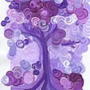 Liz Dixon's Tree Purple Poster