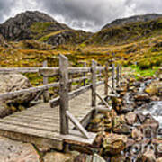Llyn Idwal Bridge Poster by Adrian Evans