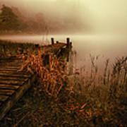 Loch Ard Early Morning Mist Poster by John Farnan