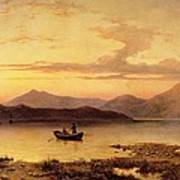 Loch Etive From Bonawe In The Evening Poster