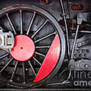 Locomotive Wheel Poster by Carlos Caetano