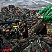 Logistics Specialist Wraps Cargo Nets Poster