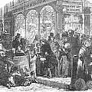 London: Christmas, 1866 Poster