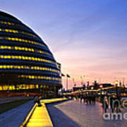 London City Hall At Night Poster