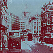 London Fleet Street Poster by Naxart Studio