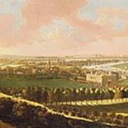 London From Greenwich Hill Poster
