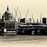 London From The Southbank Poster