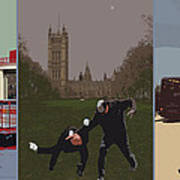 London Matrix Triptych Poster by Jasna Buncic