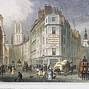 London: Street Scene, 1830 Poster