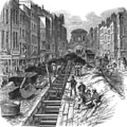 London:fleet Street Sewer Poster