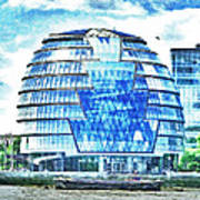 London's City Hall Poster