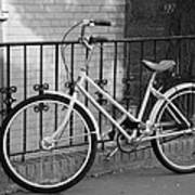Lonely Bike In Black And White Poster