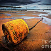 Lonely Yellow Buoy Poster
