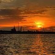 Long Beach Harbor Sunrise Poster