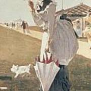 Long Branch Poster by Winslow Homer