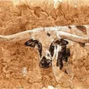 Long Horns Poster by Debra Jones