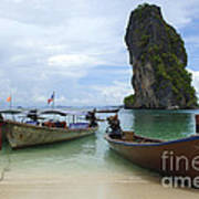 Long Tail Boats Thailand Poster