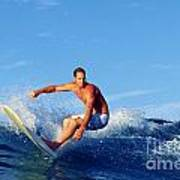 Longboard Surfer Poster