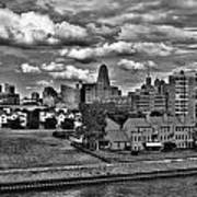 Looking Downtown From The Erie Basin Marina Poster