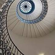 Looking Up At A Spiral Staircase Poster