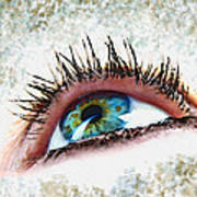 Looking Up Eye Art Poster