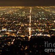 Los Angeles At Night 2 Poster