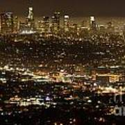 Los Angeles  City View At Night  Poster