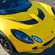 Lotus Elise Front Study Poster
