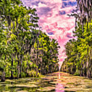Louisiana Bayou Sunrise Poster