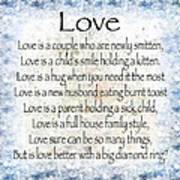 Love Poem In Blue Poster