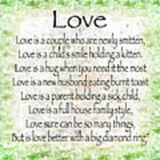 Love Poem In Green Poster