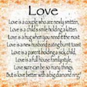 Love Poem In Orange Poster