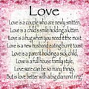 Love Poem In Pink Poster