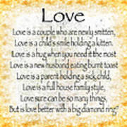 Love Poem In Yellow Poster