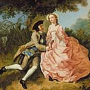Lovers In A Landscape Poster