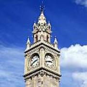 Low Angle View Of A Clock Tower, Albert Poster