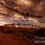 Low Flying Over Rawcliffe Bridge Poster by Nigel Hatton