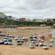 Low Tide At Tenby Poster