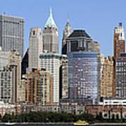 Lower Manhattan New York City Skyline Poster