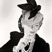 Lucille Ball Models A Unique Hat Poster by Everett