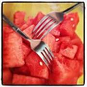 #lunch #watermelon With My #mommy <3 Poster