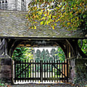 Lychgate To St Paul's Church - Scropton Poster