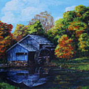 Mabry Mill In Autumn Poster