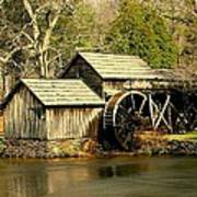 Mabry Mill In Winter Poster