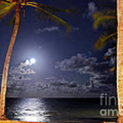 Maceio - Brazil - Ponta Verde Beach Under The Moonlit Poster