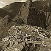 Machu Picchu Sepia Poster