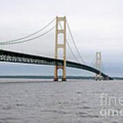 Mackinac Bridge From Water 2 Poster