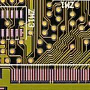 Macrophotograph Of A Circuit Board Poster