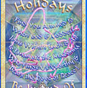 Madonna Dove And Chalice Vortex Over The World Holiday Art With Text Poster